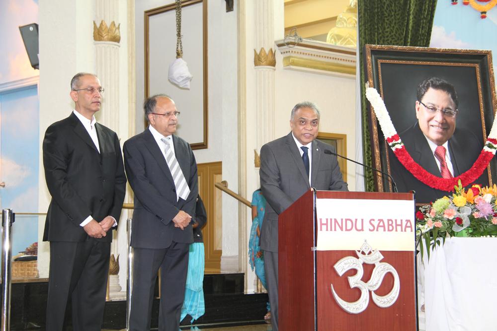 Giving eulogy for Vasu September 14, 2014